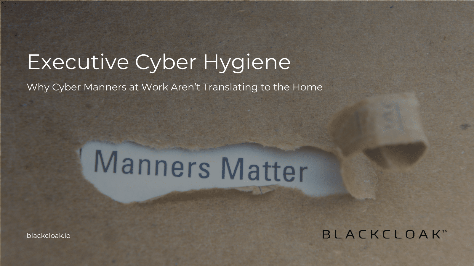 BlackCloak Cybersecurity Manners for Executives at Home Blog - Twitter Post